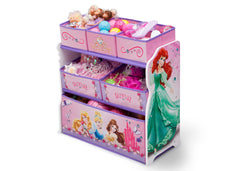Delta Children Princess Wooden Toy Organizer, Left View with Props a2a