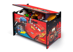 Delta Children Cars Wooden Toy Box Left View Props a2a