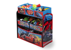Delta Children Cars Wooden Toy Organizer, Left Angle with Props a2a
