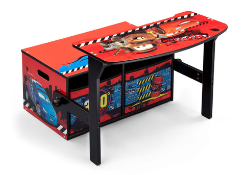 Cars 3-in-1 Storage Bench and Desk