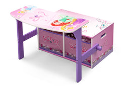 Delta Children Princess 3-in-1 Storage Bench and Desk Left View Open a3a