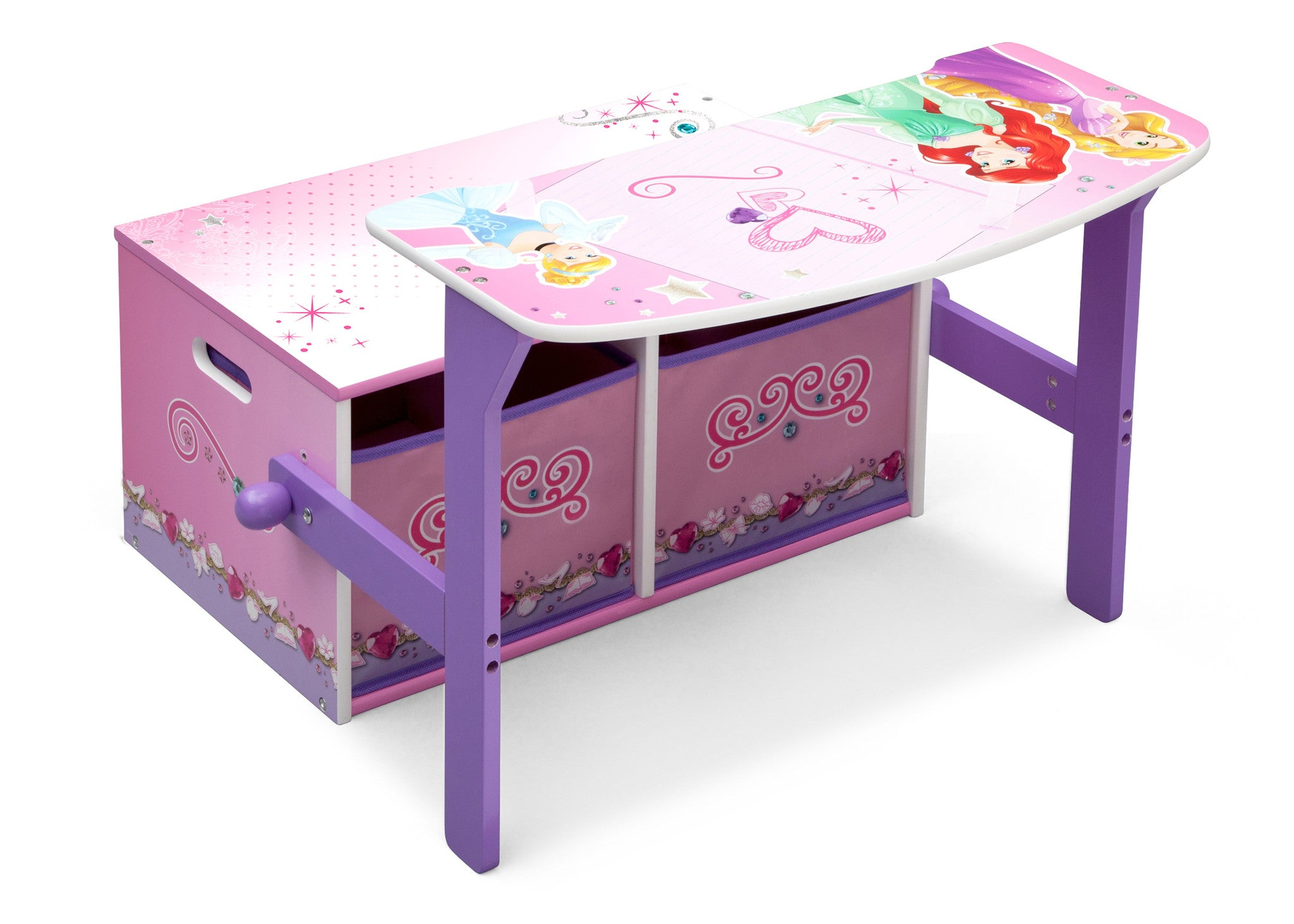 Outlet Delta Children 3 In 1 Storage Bench And Desk