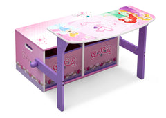 Delta Children Princess 3-in-1 Storage Bench and Desk Right View Open a1a