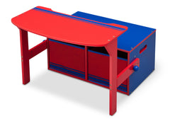 Delta Children Blue / Red Generic 3-in-1 Storage Bench and Desk Left View Open a3a