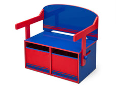 Delta Children Blue / Red Generic 3-in-1 Storage Bench and Desk Left View Closed a4a
