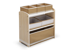 Delta Children Natural / White Generic Wooden Toy Organizer, Left View c1c