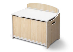 Delta Children Natural / White Wooden Toy Box, Right View a3a