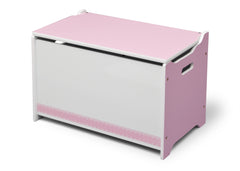 Delta Children Pink / White Generic Wooden Toy Box, Right View b2b