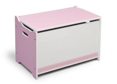 Delta Children Pink / White Generic Wooden Toy Box, Left View b1b