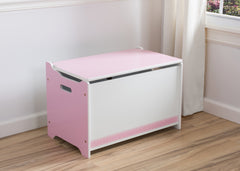 Delta Children Pink / White Generic Wooden Toy Box, Room View b0b