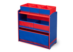 Delta Children Blue / Red Generic Wooden Toy Organizer, Right View a2a