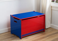 Delta Children Blue / Red Generic Wooden Toy Box, Room View a0a