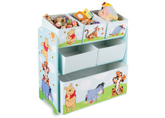 Delta Children Winnie The Pooh Wooden Toy Organizer, Left View a1a