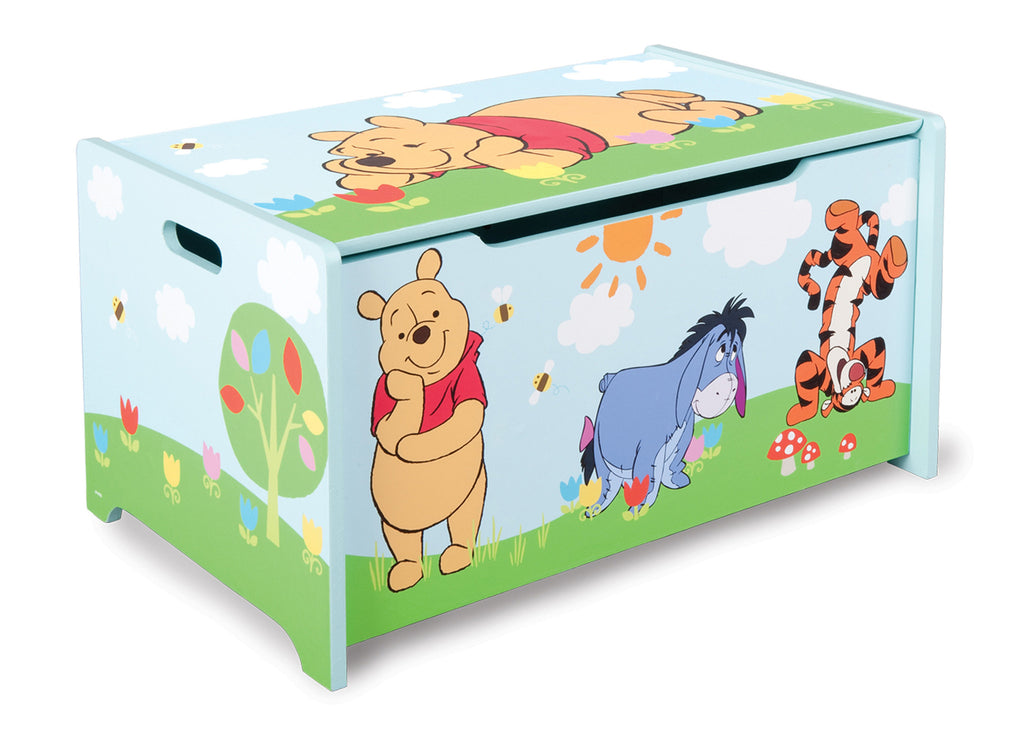 Delta Children  Winnie The Pooh Wooden Toy Box, Left View a1a