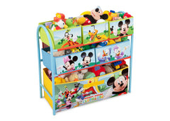 Delta Children Mickey Mouse Metal Frame Toy Organizer Left Angle with Props a1a