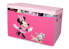 Delta Children Minnie Mouse Fabric Toy Box, Right View with Props a2a