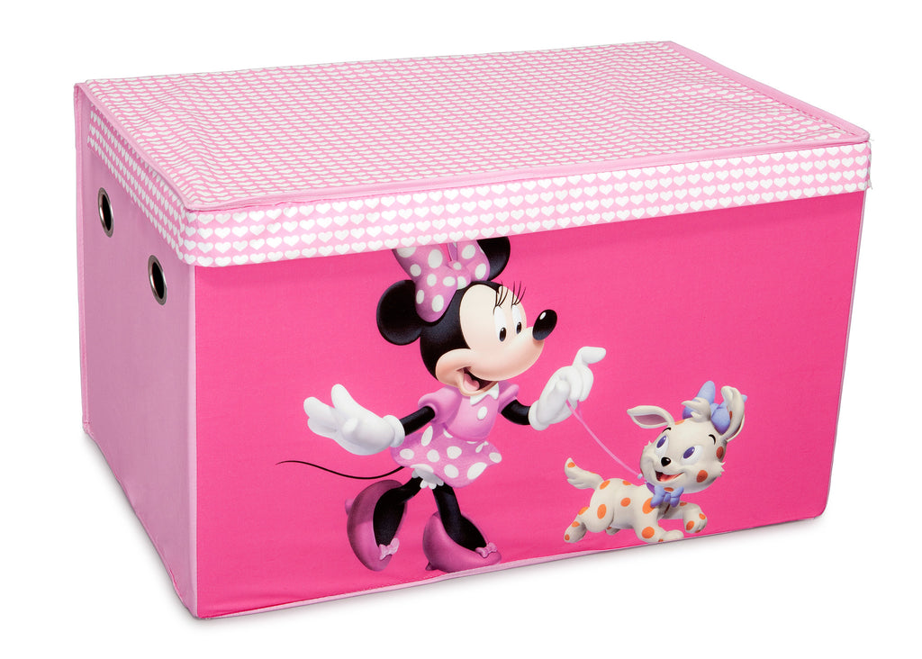 Delta Children Minnie Mouse Fabric Toy Box, Left View a1a