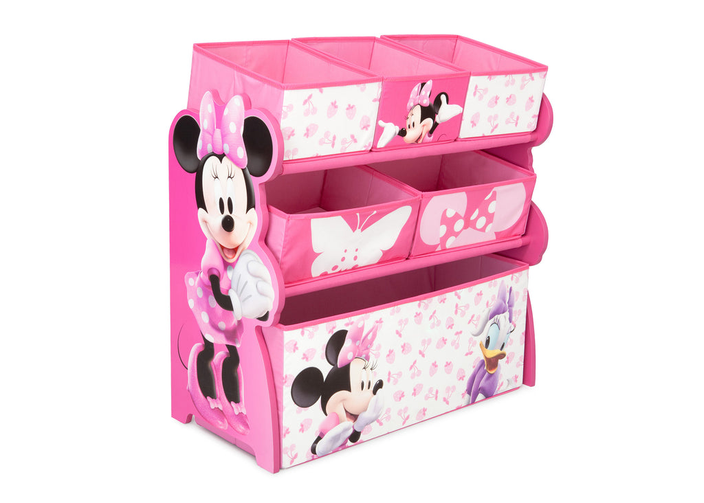 Delta Children Minnie Mouse Wooden Toy Organizer, Left View a1a