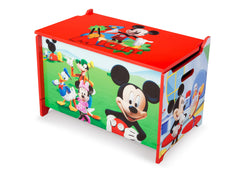 Delta Children Mickey Mouse Wooden Toy Box, Left Angle a2a