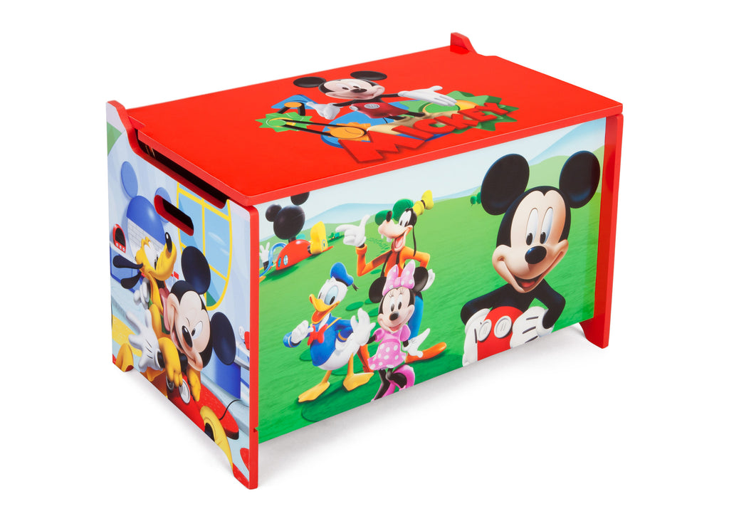 Delta Children Mickey Mouse Wooden Toy Box, Right Angle a1a