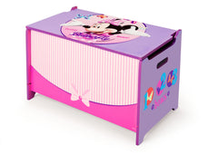 Delta Children  Minnie Mouse Wooden Toy Box, Left Angle a2a