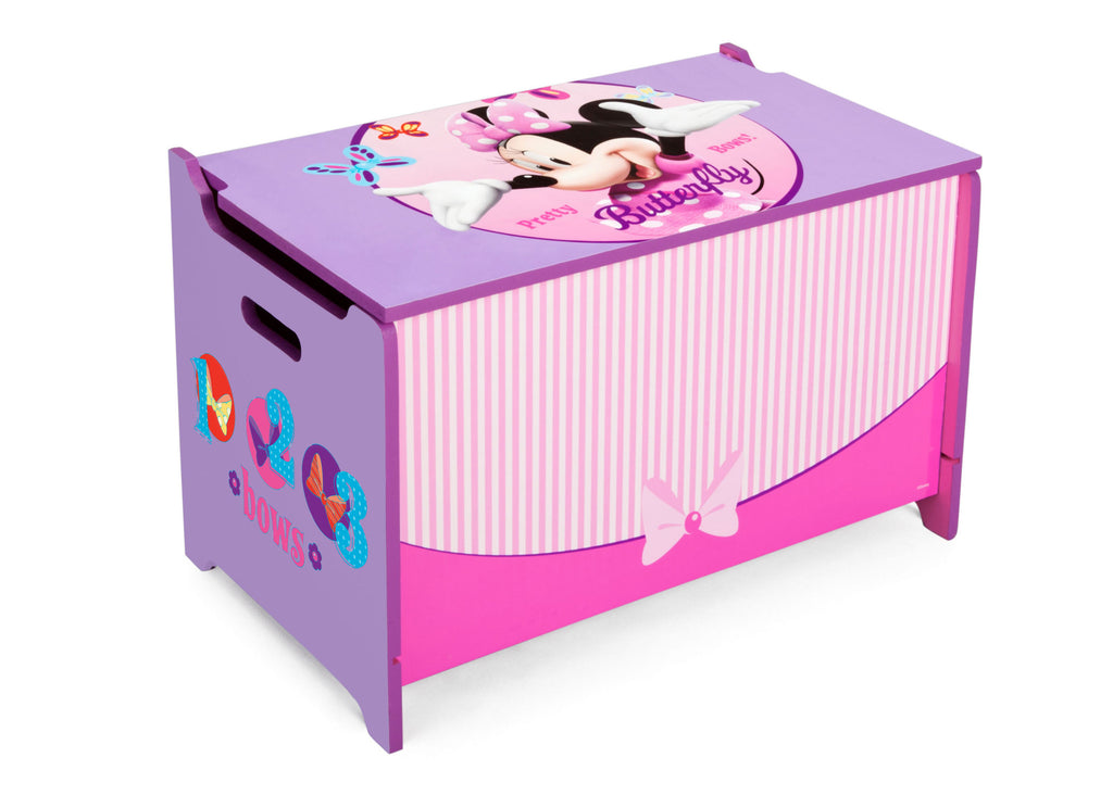 Delta Children  Minnie Mouse Wooden Toy Box, Right Angle a1a