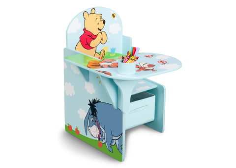 Winnie the Pooh Chair Desk with Storage Bin