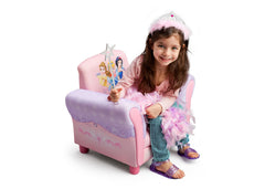 Delta Children  Princess Upholstered Chair, Left View with Model a3a