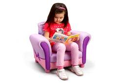 Delta Children Minnie Mouse Upholstered Chair, Right View with Model Style 1 a3a