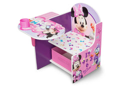 Delta Children Minnie Mouse Chair Desk with Storage Bin left view a2a