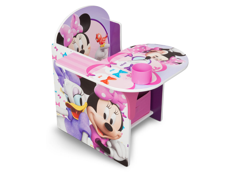 Delta Children Minnie Mouse Chair Desk with Storage Bin right view a1a