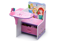 Delta Children Princess Chair Desk with Storage Bin Left View a2a