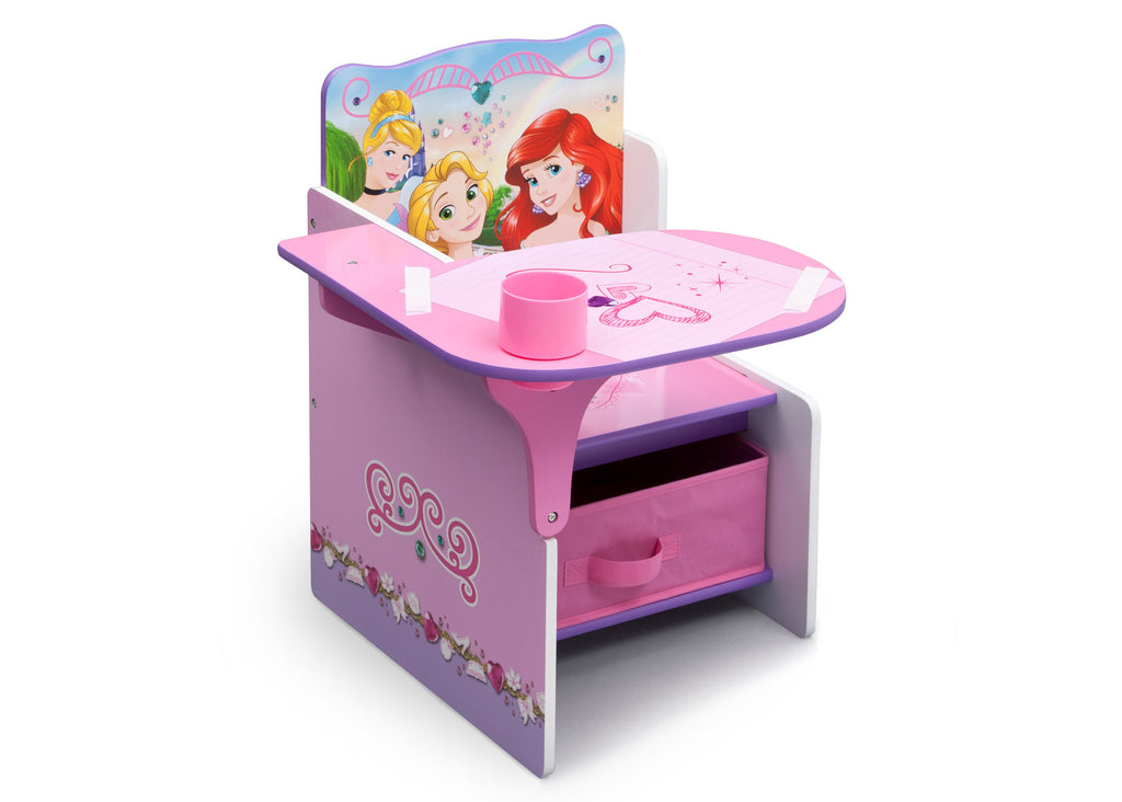 Delta Children Princess Chair Desk with Storage Bin Right View a1a