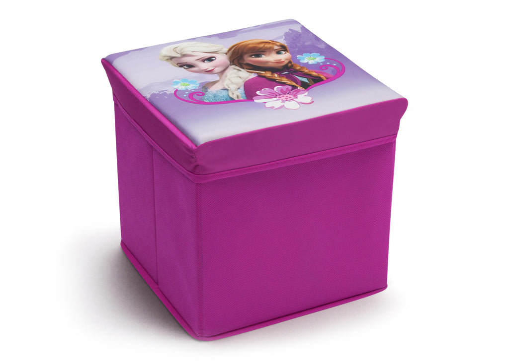 Delta Children Frozen Collapsible Storage Ottoman, Right View Style 1 a1a