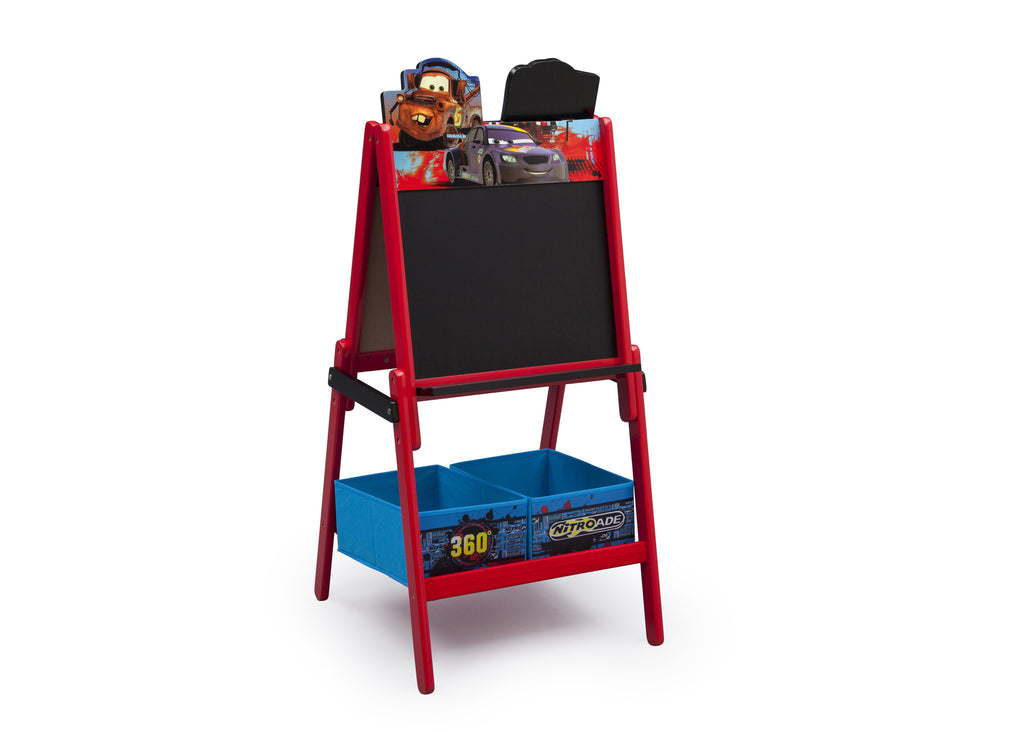 Delta Children Cars Wooden Easel With Storage, Chalkboard Side, Left Angle a1a