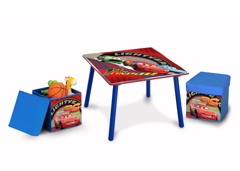 Cars Table and Ottoman Set