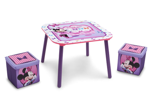 Minnie Mouse Table and Ottoman Set