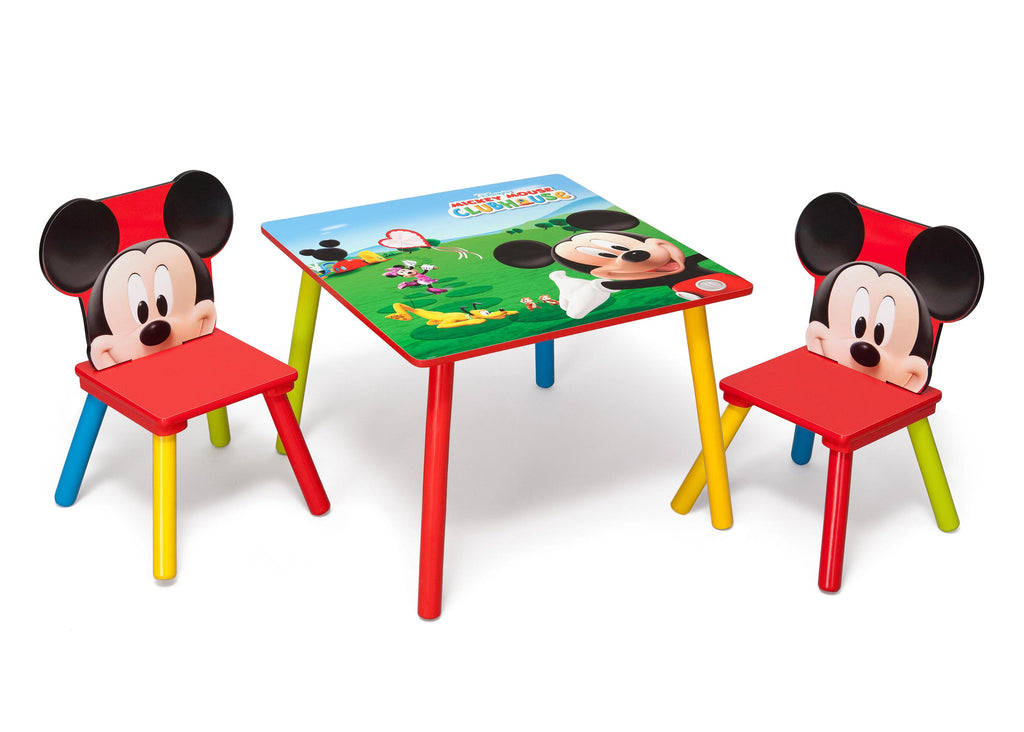 Delta Children Mickey Mouse Table and Chair Set Right Angle a1a