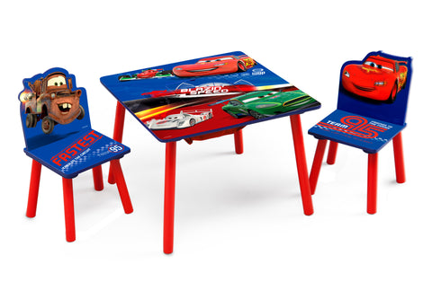 Cars Table and Chair Set with Storage
