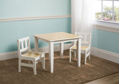 Delta Children Natural/White Table and Chair Set Room View a0a