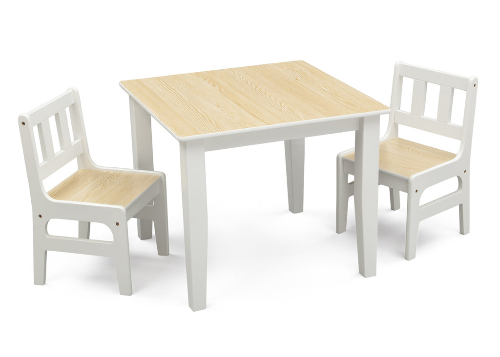 Delta Children Natural/White Table and Chair Set Right View a1a