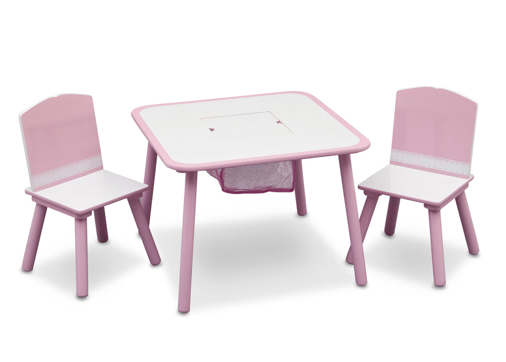 Delta Children Generic Pink / White Table and Chair Set Right View b1b