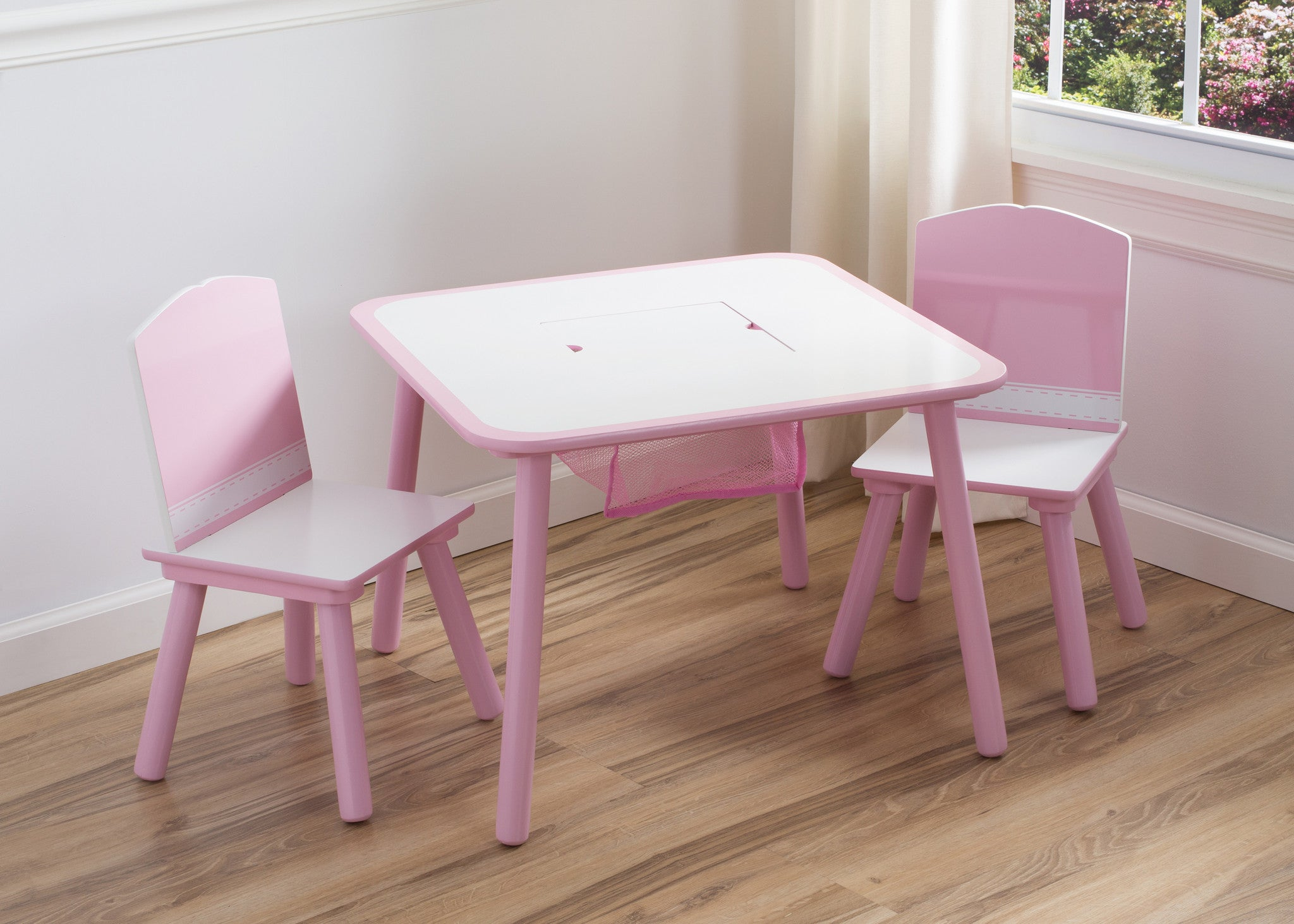 Generic Pink Table And Chair Set With Storage Delta