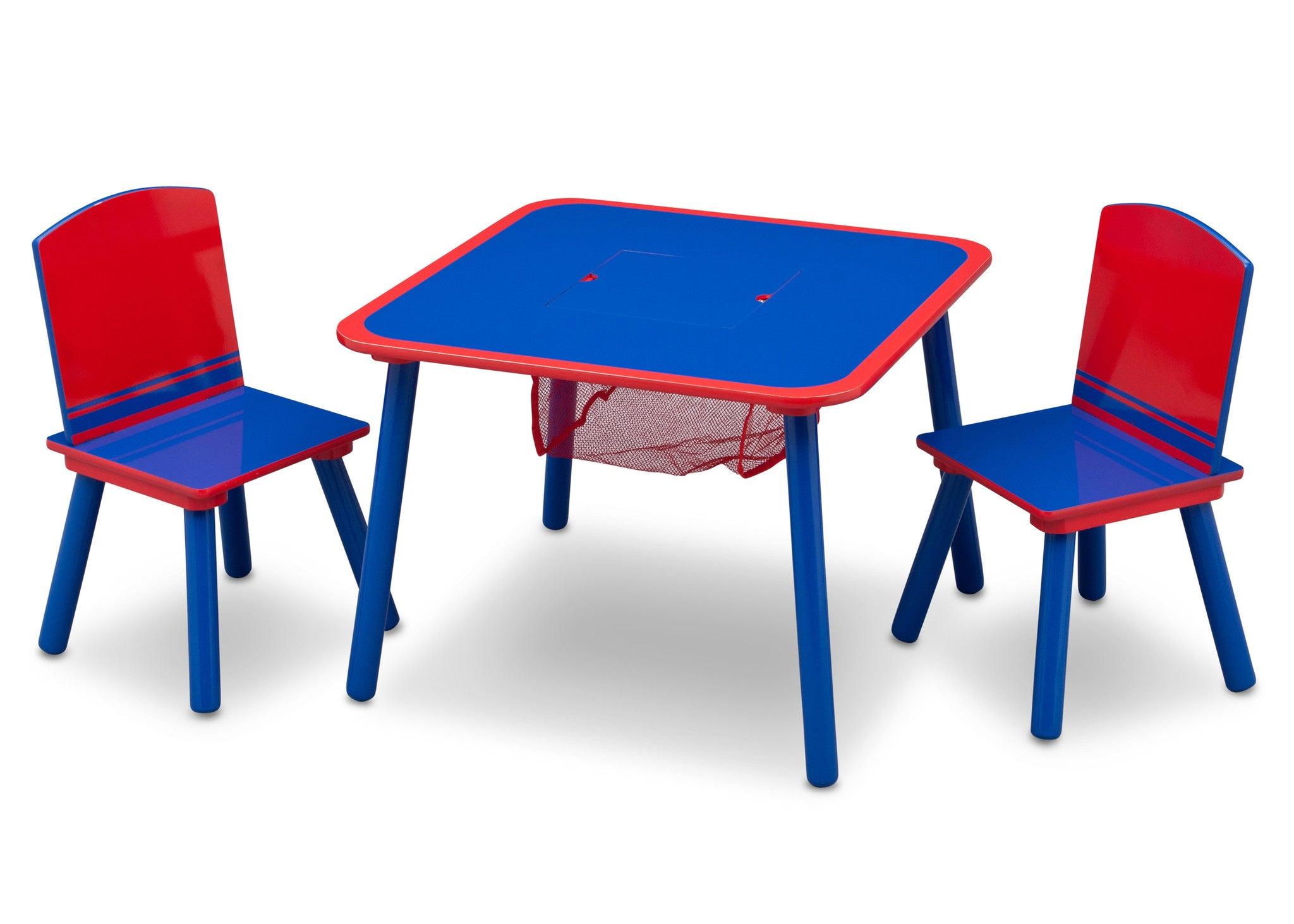 Generic Blue Red Table And Chair Set With Storage Delta