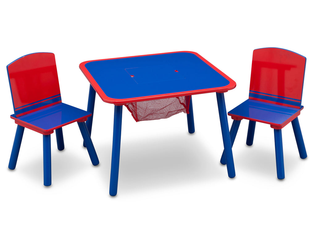 Delta Children Generic Blue / Red Table and Chair Set Right View a1a