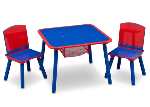 Generic Blue/Red Table and Chair Set with Storage