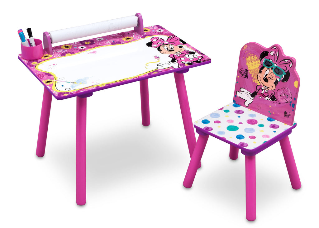 Delta Children Minnie Mouse Activity Desk Right View a1a