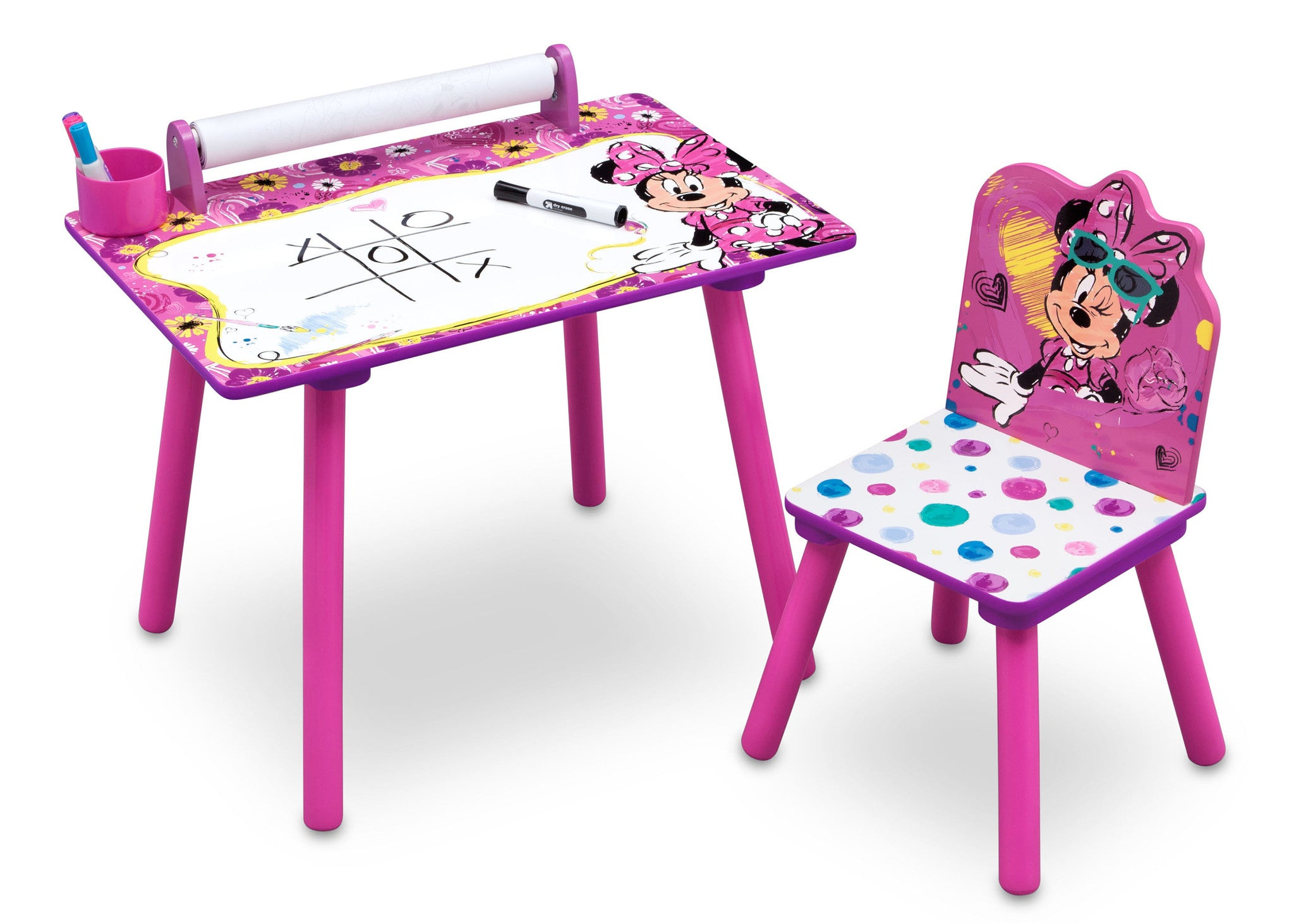 Minnie Mouse Activity Desk With Paper Roll Delta