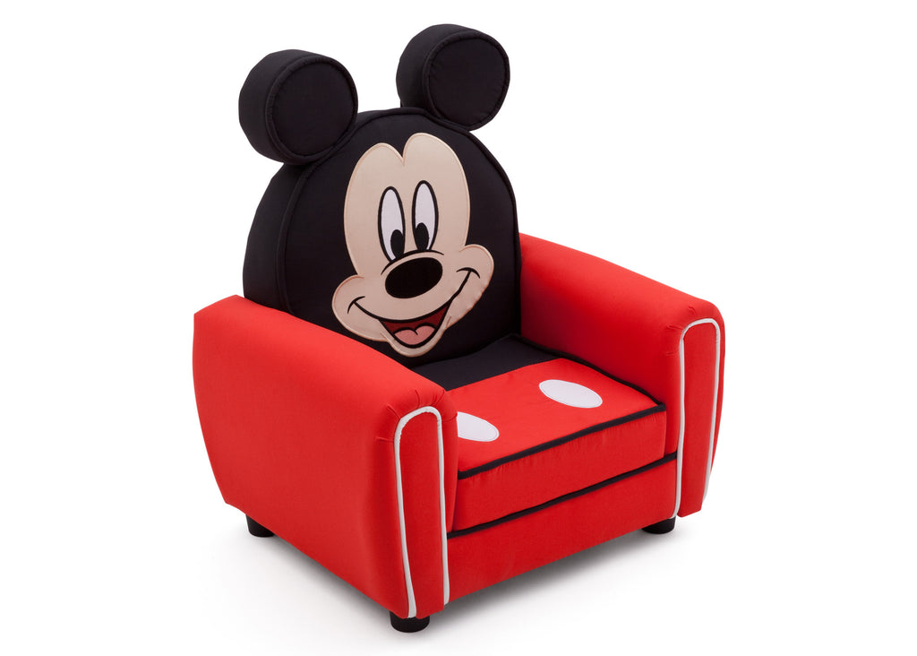 Delta Children Mickey Mouse Upholstered Chair with Ears Right Side View a1a