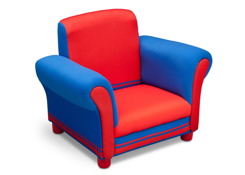 Generic Blue/Red Upholstered Chair